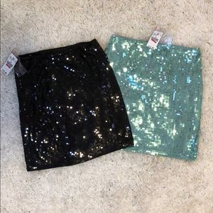 Sequin mini skirt bundle